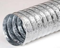 Воздуховод гибкий неизолированный ф100 L=10м.