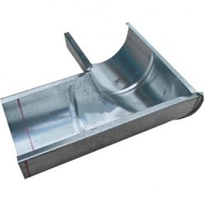 Угол лотка 140мм 350х350 мм оцинкованный