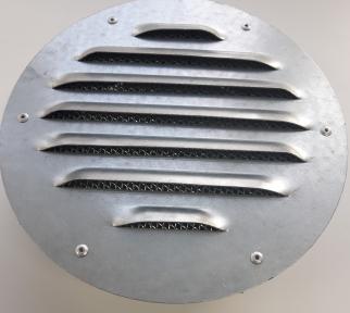 Решетка наружная круглая Стальная ф355